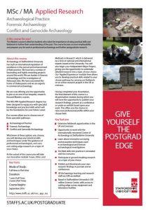 CoA Masters leaflet