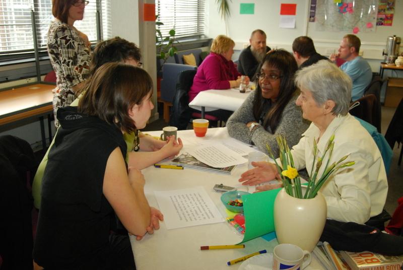 Participants discuss inclusive assessment at the Creative Communities Unit