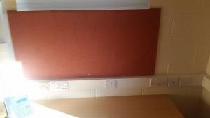 Empty desk in accommodation
