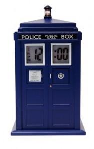 Tardis shaped alarm clock