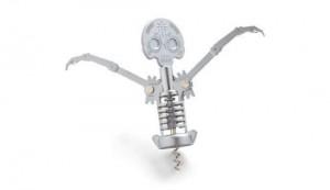 Skeleton shaped corkscrew