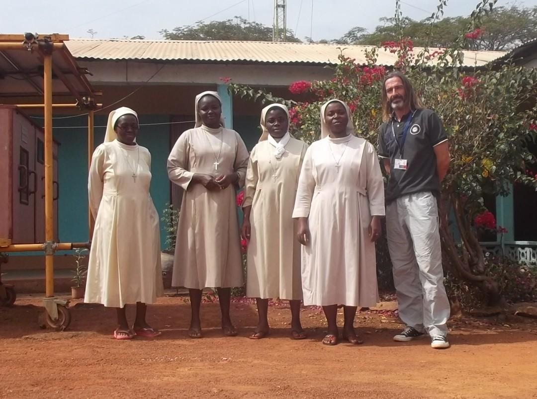 Richard at a catholic mission in Ndim