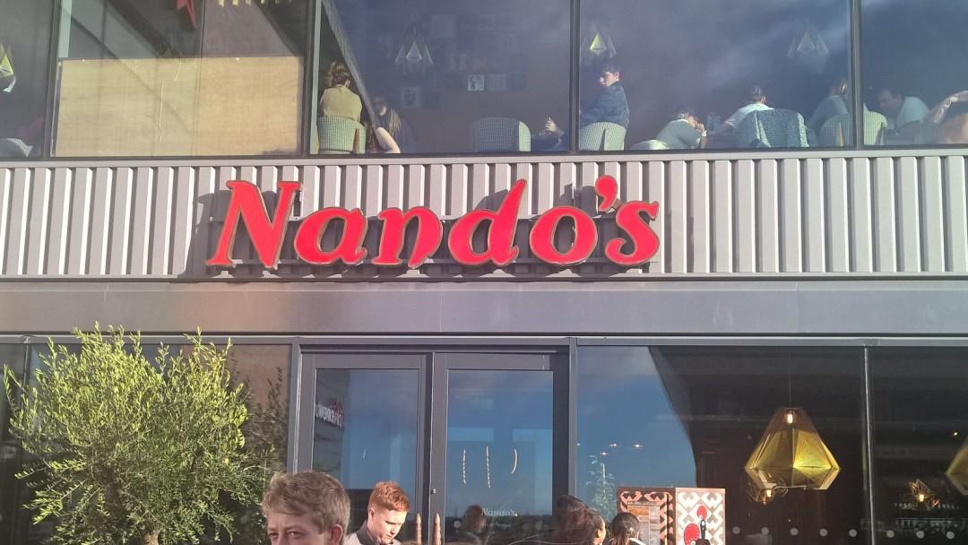 Nandos sign at the Hive