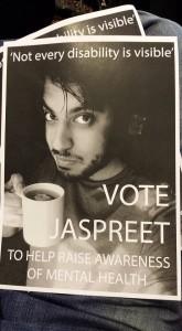 Jaz's leadership race poster