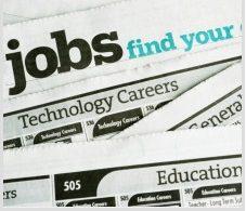 Job adverts in a newspaper