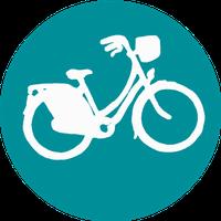 DoNation symbol for bike transport