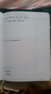 inside of Annrose's journal