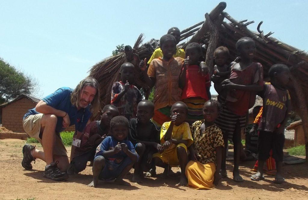 Richard with the Children in Boh Village