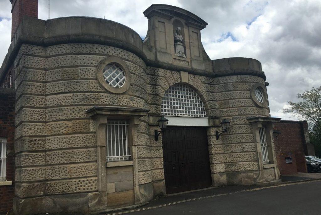 Entrance to the old Dana Prison (HMP Shrewsbury)