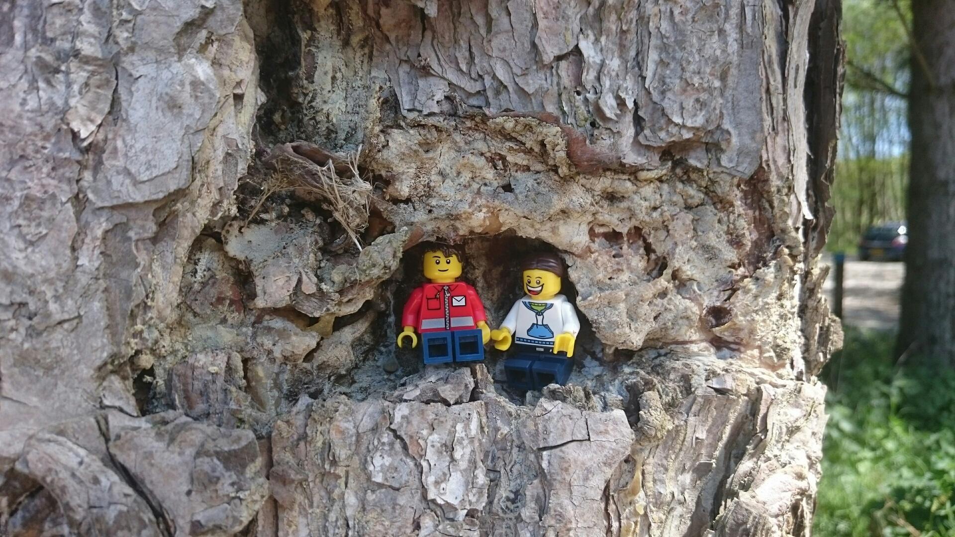 Lego Mini figures in a tree