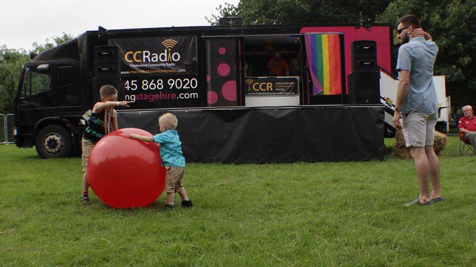 Chelmsford Community Radio van at Essex Pride