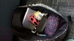contents of blogger Lauren's handbag