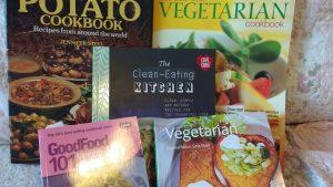 Variety of cookbooks