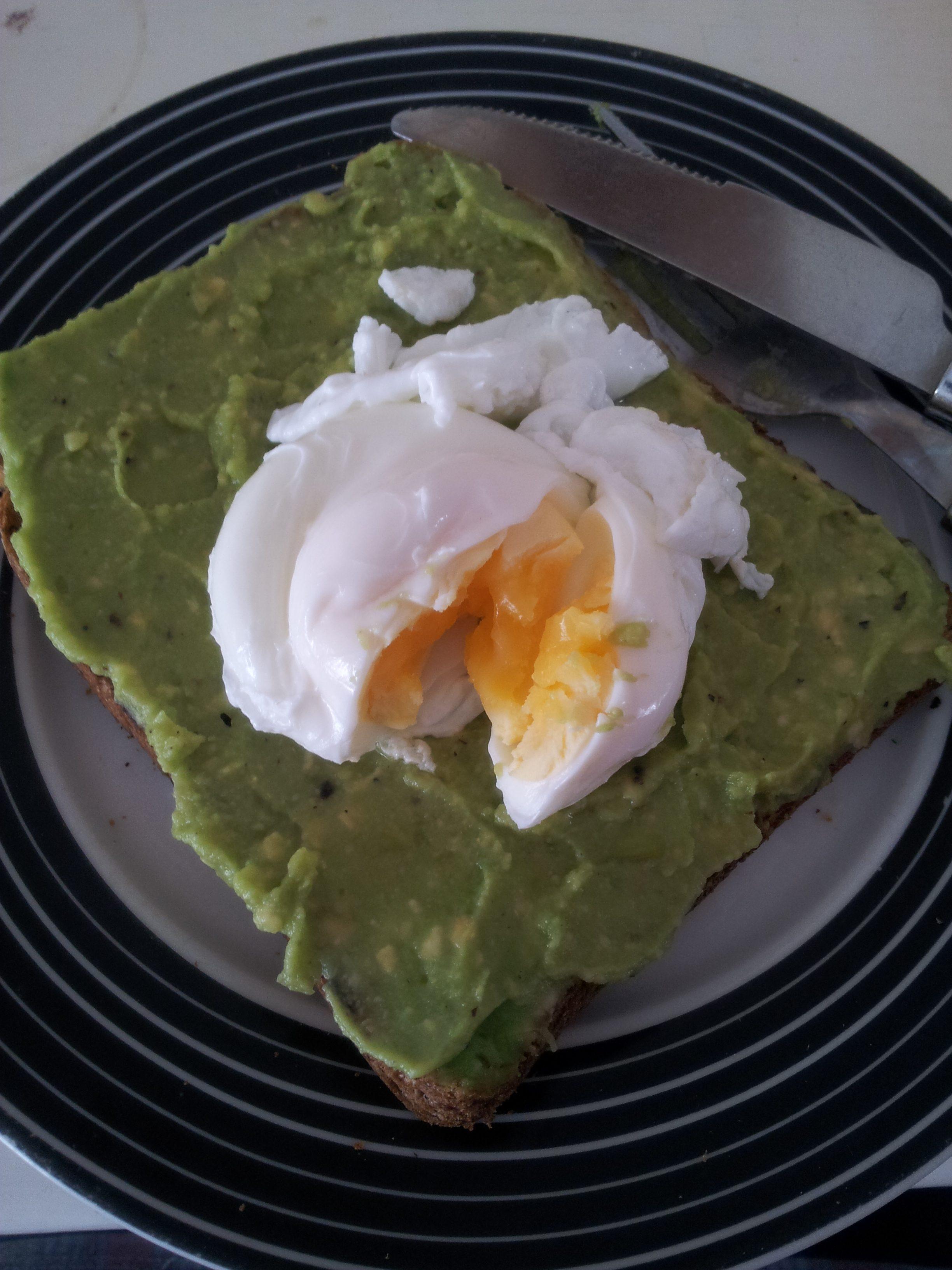 Poached egg on avocado toast