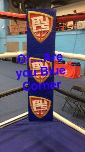 Blue corner boxing ring
